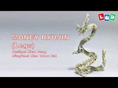 Money Ryujin (Part 2 - Legs) - Money Origami Dollar Bill Origami, Money Origami, Origami Fish, Youtube Money, Origami Tutorial, Make It Yourself, Legs, Dragon, Paper