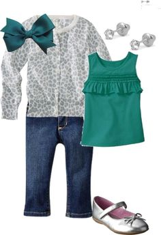 """Toddler Girl Style"" by anmerritt on Polyvore   except no ear piercing until she's older and can make that choice for herself :):"