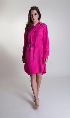 Stylish and casual pink women's shirt dress Dress Shirts For Women, Handmade Design, Raincoat, Spring Summer, Shirt Dress, Sport, Elegant, Stylish, Casual