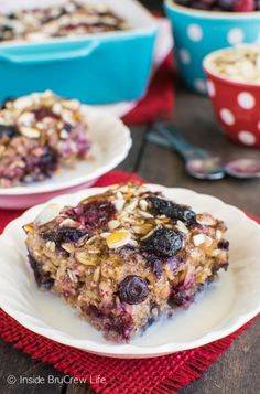 Adding nuts and berries give a great texture and flavor to this Almond Berry Baked Oatmeal. Great warm breakfast recipe!