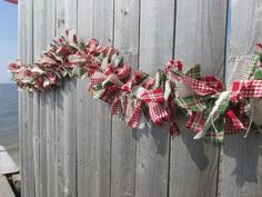 Grinch Green Burlap Rag Garland Homespun by RagWreathBoutique Country Christmas, Red Christmas, Christmas Wreaths, Christmas Ornaments, Garland Ideas, Rag Garland, Garlands, Holiday Crafts, Holiday Fun