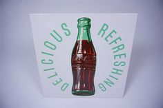 Sold* at Las Vegas 2016 - Lot #6150.9 Unusual 1955 Coca-Cola Delicious-Refreshing tin diner sign with bottle graphic.