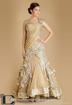 Stunning Designer Bridal Saree in gold #bridalsaree #gold #weddingdress