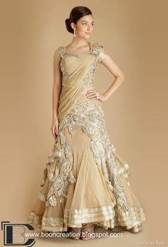 Stunning Designer Bridal Saree in gold #bridalsaree #gold #weddingdress