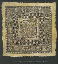 From the book Hiapo Past and Present in Niuan Bark Cloth by John Pule and Nicholas Thomas Tapas, Bark Cloth, African Textiles, Tonga, Global Art, Mark Making, Fiji, Textile Art, Book Covers