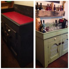Dry sink redone with chalk paint