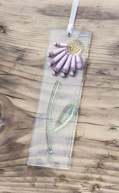 Fused Glass Light Catcher - Pink Daisy