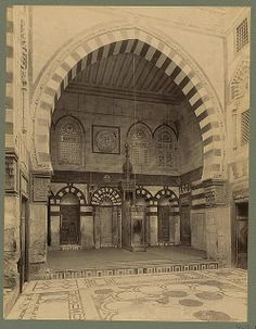 Interieur de la mosqée Kaı̈t-Bey