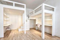 Parvi   Parvet ja parviratkaisut ahtaisiin tiloihin - hhi.fi Loft, Living Room, Bed, Furniture, Home Decor, Decoration Home, Stream Bed, Room Decor, Lofts