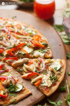 Paleo Thai Chicken Pizza Recipe