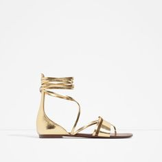 ZARA - WOMAN - FLAT LACE-UP SANDALS
