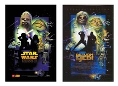 Lego Star Wars Ep6 Poster compared to original movie poster