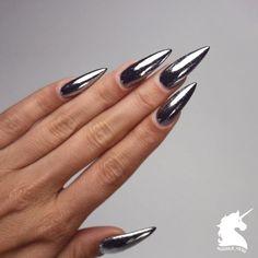 Bildresultat för naglar silver chrome
