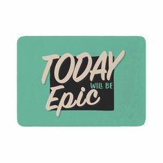 "Juan Paolo ""Epic Day"" Vintage Teal Memory Foam Bath Mat"