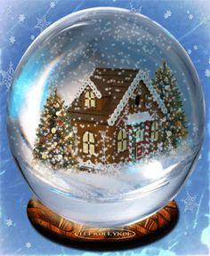 Christmas Crystal Snow Ball Animated Gif - Click to play