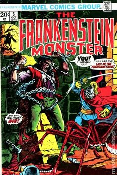 THE MONSTER OF FRANKENSTEIN 6, BRONZE AGE MARVEL COMICS