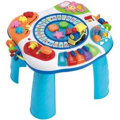 Your little one will have a blast with all that the Winfun Letter Train & Piano Activity Table has to offer. With various buttons and sounds around this stand-up activity table, your child will enjoy endless hours of fun exploring. Toddler Toys, Baby Toys, Kids Toys, Baby Play, Play Centre, Learning Colors, Color Shapes, Activity Centers, Infant Activities
