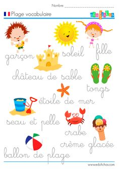 plage vocabulaire