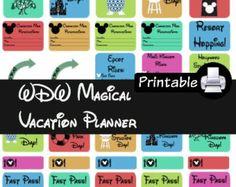 Walt Disney World Parks Planner PDF PRINTABLE Stickers for Happy Planner Erin Condren Planner Filofax Plum Paper Decorating Kit
