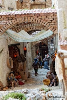 Christmas Village Display, Christmas Nativity Scene, Christmas Villages, Christmas Time, Christmas Crafts, Christmas Decorations, Nativity Scenes, Fontanini Nativity, Diy Nativity