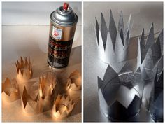 diy mini crowns out of toilet paper rolls!