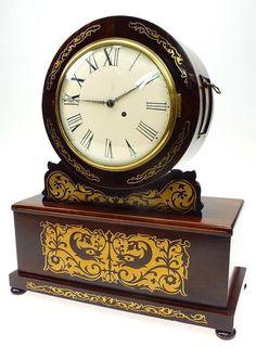An English Regency Mantel Timepiece Machine Turned Gilt