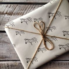 zebra gift wrap - once a Grottie always a Grottie