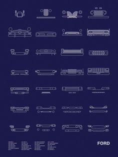 Auto Icon Screen Print Series: Ford