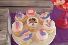 "THE cutest DOC MCSTUFFINS BIRTHDAY PARTY styled by jenny cookies & ""The Guncles"" (Tori Spelling's BFF's) using products from www.KarasPartyIdeas.com"