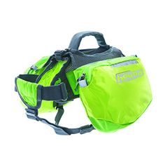 Outward Hound Kyjen  22014 Quick Release Backpack Saddlebag Style Dog Backpack, Extra Large, Green * More info could be found at the image url. (This is an affiliate link) #DogApparelAccessories