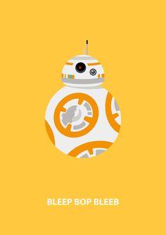 Minimalist Star Wars poster designs.
