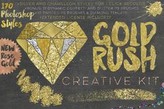 Gold Rush For Photoshop by Studio Denmark on Creative Market