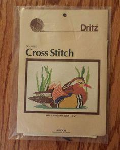 Dritz Counted Cross Stitch Kit 8923 Mandarin Duck  #Dritz #CountedCrossStitch