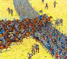 I remember the first time I saw mounted men charge down at a wall of spears and shields.  There were men holding those shields.  And children too.  The beasts charging down on them were glorious to behold.  They make horses seem slow and weak.  The men and children holding spears and shields didn't stand a chance.  It was my first Victory as commander of the Dark.  I will never forget the carnage . . . it was beautiful.