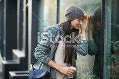 Window shopping in the city Royalty Free Stock Photo