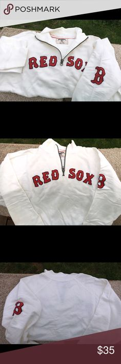 Banner 47 MLB Boston Red Sox Pullover Wonderful soft cotton! Youth size XL but a small women can wear. Small blemish inside collar please see picture pointing it out. If u like sports check out my pics (comment or purchase) http://jmsmooth.smugmug.com Banner 47 Shirts & Tops Sweatshirts & Hoodies