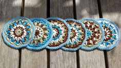 #Crochet coasters free pattern from String Theory Crochet