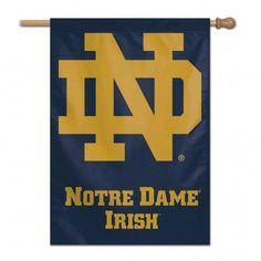 Notre Dame Fighting Irish Banner 28x40 Vertical #NotreDameFightingIrish