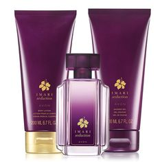 Luscious plum and purple orchid with hints of warm vanilla, amber and musk.A $39.50 value, the collection includes:•Imari Seduction Eau de Toilette -1.7 fl. oz. a $23 value•Imari Seduction Shower Gel -6.7 fl. oz. a $8.50 value•Imari Seduction Body Lotion -6.7 fl. oz. a $8 value