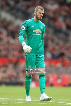 Man Utd goalkeeper David De Gea looks dejected during the Premier League match between Manchester United and Chelsea at Old Trafford on April 2019 in Manchester, United Kingdom. Get premium, high resolution news photos at Getty Images World Football, Football Team, Marc Andre, Premier League Matches, Old Trafford, Goalkeeper, Lionel Messi, Cristiano Ronaldo, Manchester United