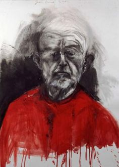 "Jim Dine ""Self-Portrait"". Jim Dine is one of my favourite artists from the late century. So expressive! Jim Dine, Neo Dada, Red Art, Artist Inspiration, Figure Painting, Portraiture, Life Drawing, Art, Portrait"