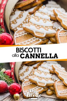 Cinnamon cookies- Biscotti alla Cannella Cinnamon Cookies are biscuits that are usually prepared at Christmas time, so they often also have Christmas shapes and decorations! Biscotti Cookies, Cake Cookies, Cinnamon Cookies, Christmas Sweets, Christmas Time, Italian Cookies, Biscuit Recipe, Crepes, Sweet Recipes