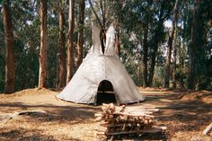 """Hand made 16 foot Cheyenne style teepee, Door and bag """"Burning Mans best lodging option"""" for $425.00 at etsy.com"""