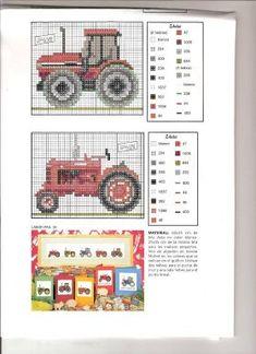 tractor en punto de cruz - Pesquisa do Google
