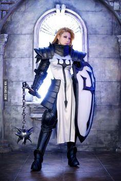 Amazing Diablo III Crusader Cosplay by Tasha