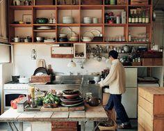 American Home Interior Open Plan Kitchen, Kitchen Dining, Kitchen Decor, Asian Kitchen, Japanese Kitchen, Kitchen Interior, Interior Design Living Room, Interior Decorating, Appartement Design