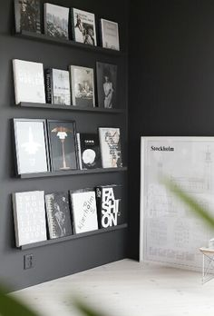 Love this book/art wall