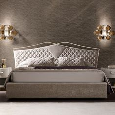 Quilted Nubuck Italian Designer Bed at Juliettes Interiors. Bedroom Furniture Design, Bed Design Modern, Headboards For Beds, Luxury Bedroom Furniture, Bedroom Lamps Design, Bed, Bedroom Bed Design, Luxury Bedding, Latest Bed