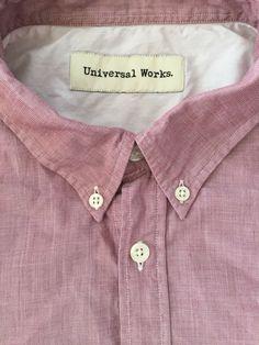 Universal Works reclaimed shirt size L #universalworks #reclaimedclothing #qualityshirts #mensfashion #slowfashion