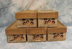 """Five MIB 7.5"""" Early AlexanderDionne Quintuplet Dolls c1938 Wigged TODDLERS"""